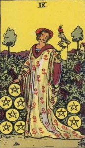 Nine-of-Pentacles