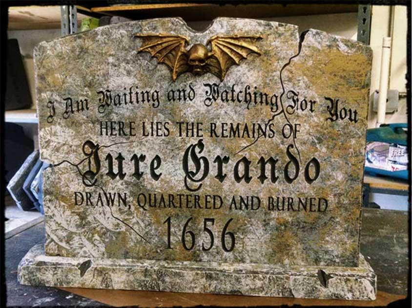 Jure Grando's Tombstone.